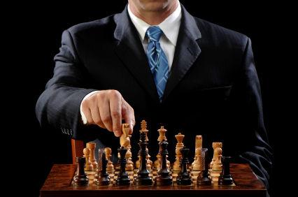 Man Playing Chess Game